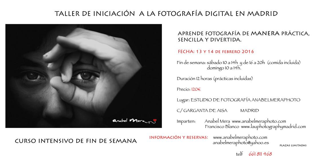 Cartel Curso Fotografía fin de semana 2016